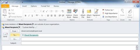 DL with External Recipient and Custom MailTip