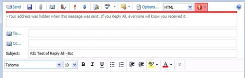 Reply All - Bcc - Redacted