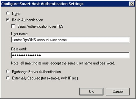 Smart host authentication settings