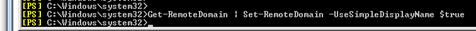 Set-RemoteDomain_-UseSimpeDisplayName_command